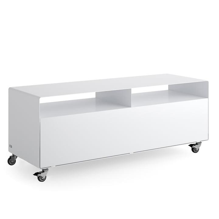 Müller Möbelfabrikation - R 109N Sideboard mit Klapptür auf Industrierollen