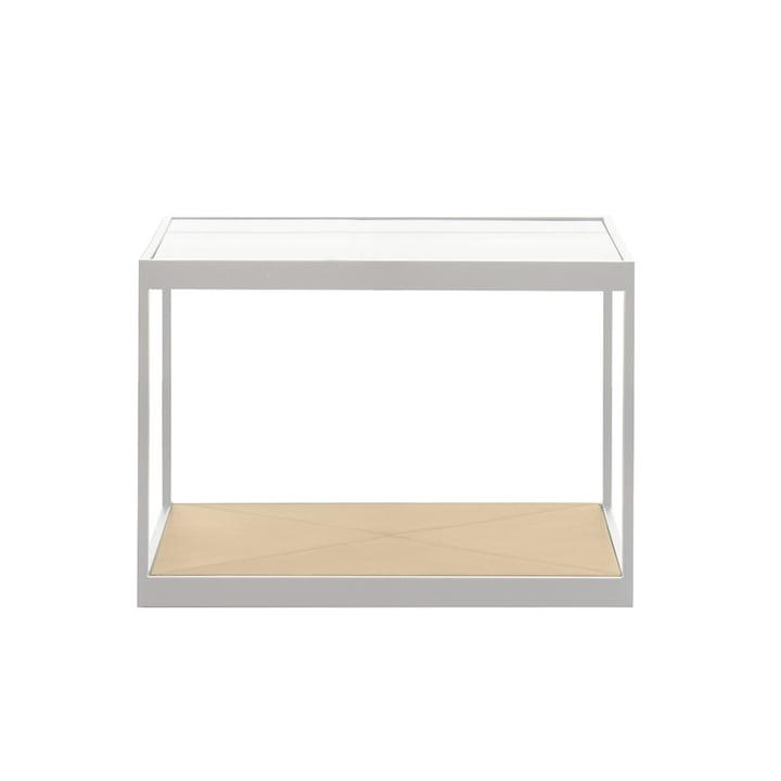 Röshults - Monaco Coffee Table 50 x 50 cm, weiss / Leder sand