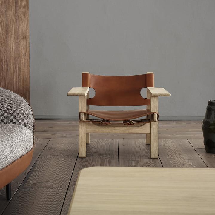 Spanish Chair von Fredericia mit extra breiten Armlehnen