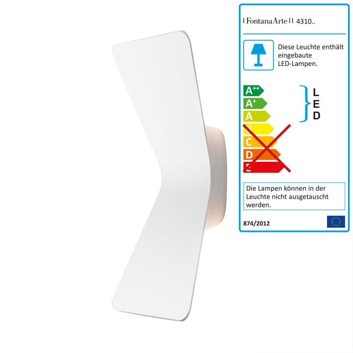 Flex LED-Wandleuchte von FontanaArte in Weiss
