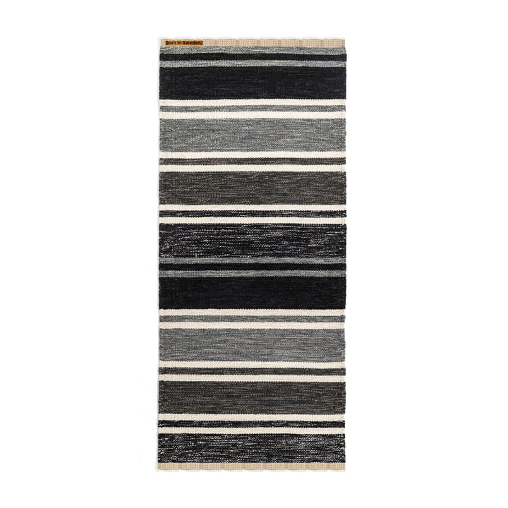 Teppich Tom 75 x 160 cm von Born in Sweden in Grautönen