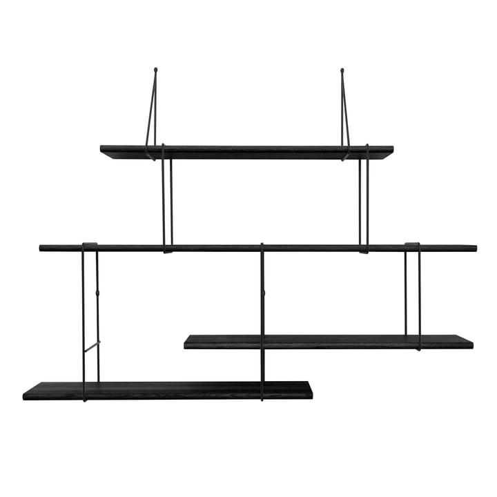 Link Setup 2 von Studio Hausen in Eiche Schwarz / Schwarz