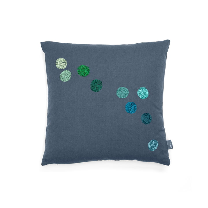 Vitra - Dot Kissen 40 x 40 cm, blaugrau