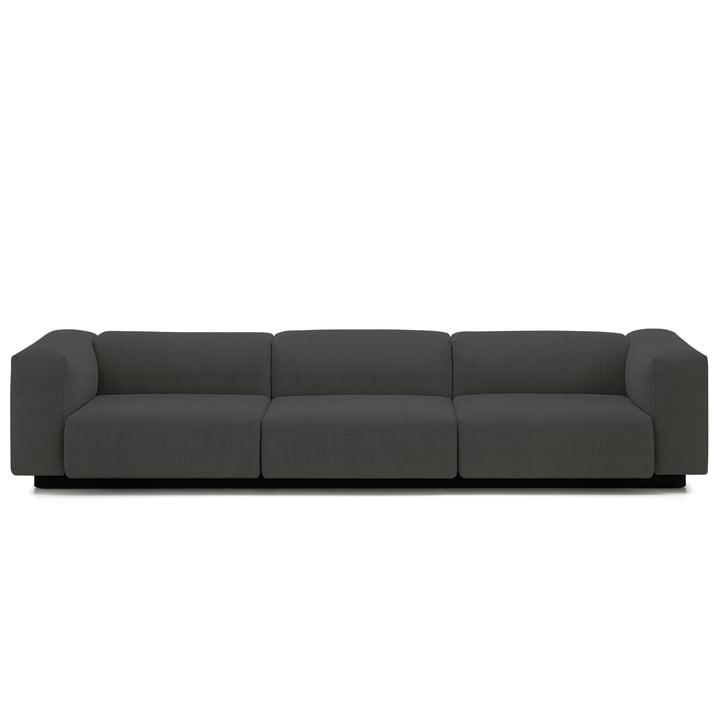 Soft Modular Sofa 3-Sitzer von Vitra in Anthrazit (Laser 03)