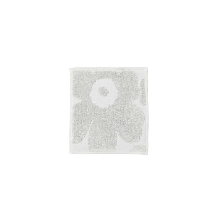 Unikko Solid Mini-Handtuch 25 x 25 cm von Marimekko in Grau
