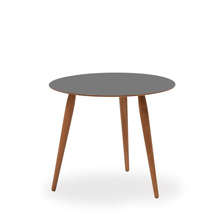 Play Round Laminate Beistelltisch Ø 45 cm von bruunmunch in Storm Grey / Eiche geölt