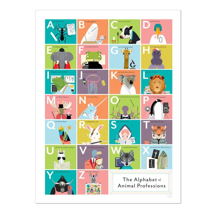 The Alphabet of Animal Professions von Pop Chart Lab