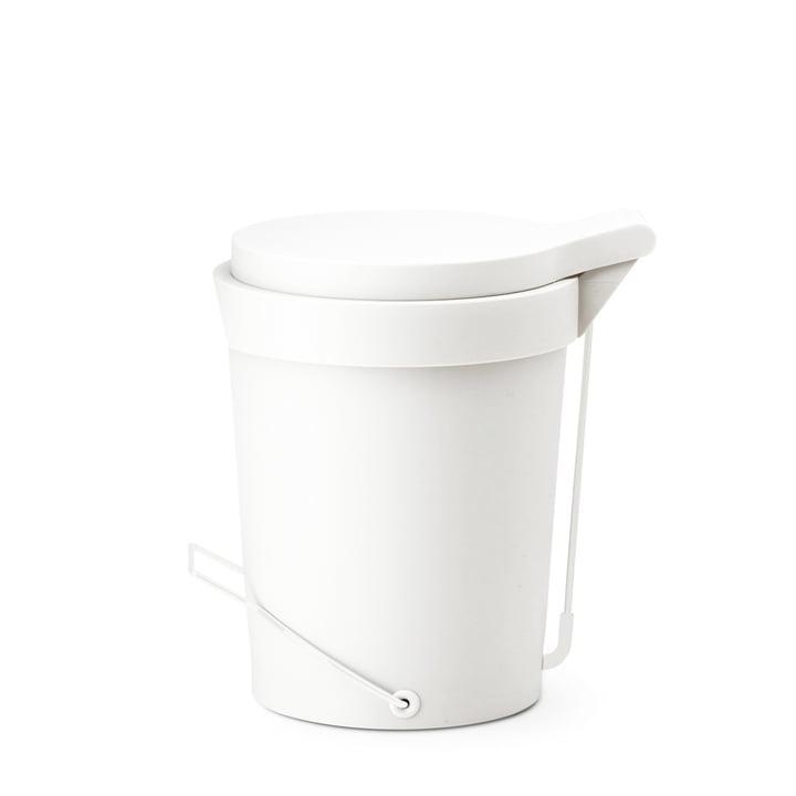 Depot4Design - Tip Treteimer 7 Liter, Ø 22 cm, weiss