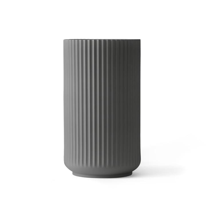 Lyngby Porcelæn - Lyngbyvase, dunkelgrau, H 20 cm