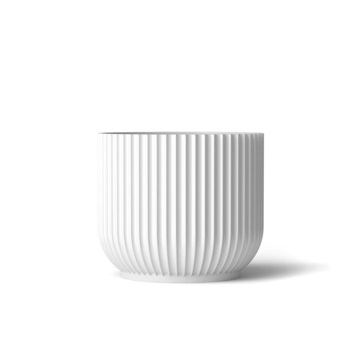 Blumentopf S von Lyngby Porcelæn in Weiss