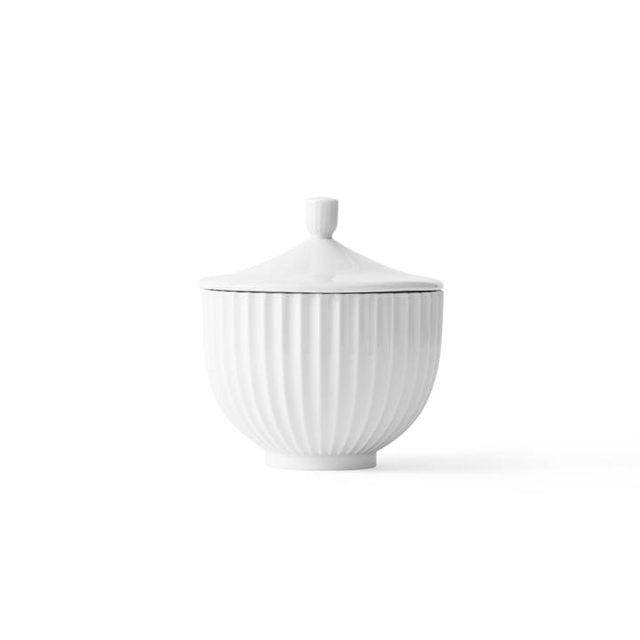Bonbonniere Porzellan ø 10 cm von Lyngby Porcelæn in Weiss