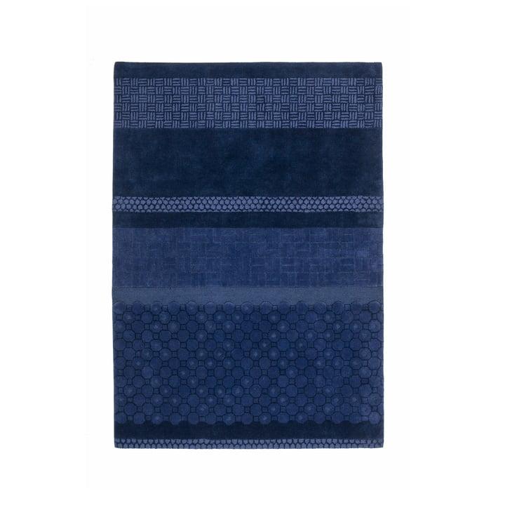nanimarquina - Jie Teppich 170x240 cm, blau