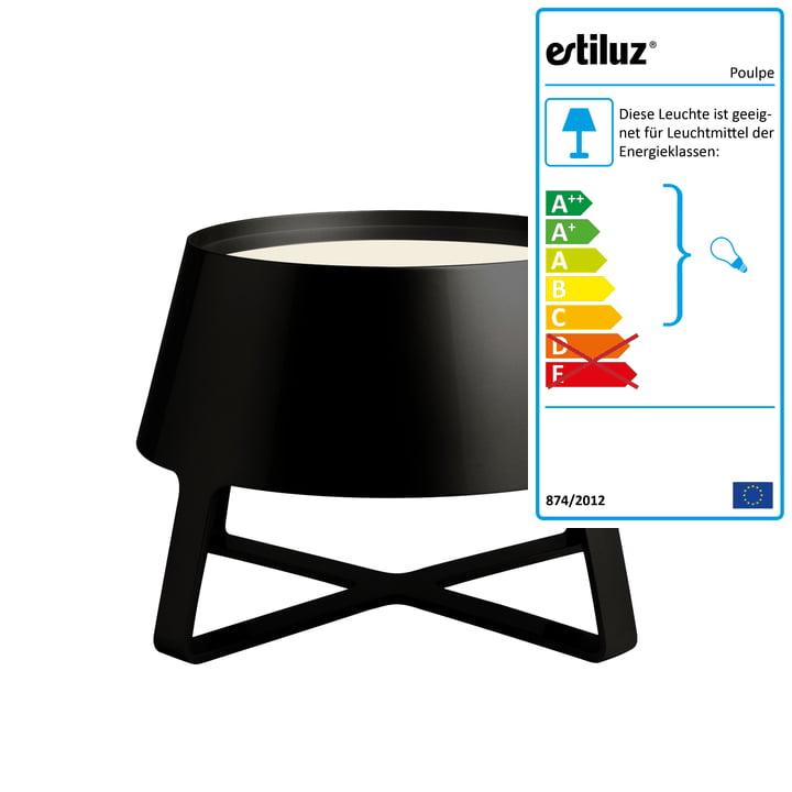 Estiluz - Poulpe Bodenleuchte, schwarz