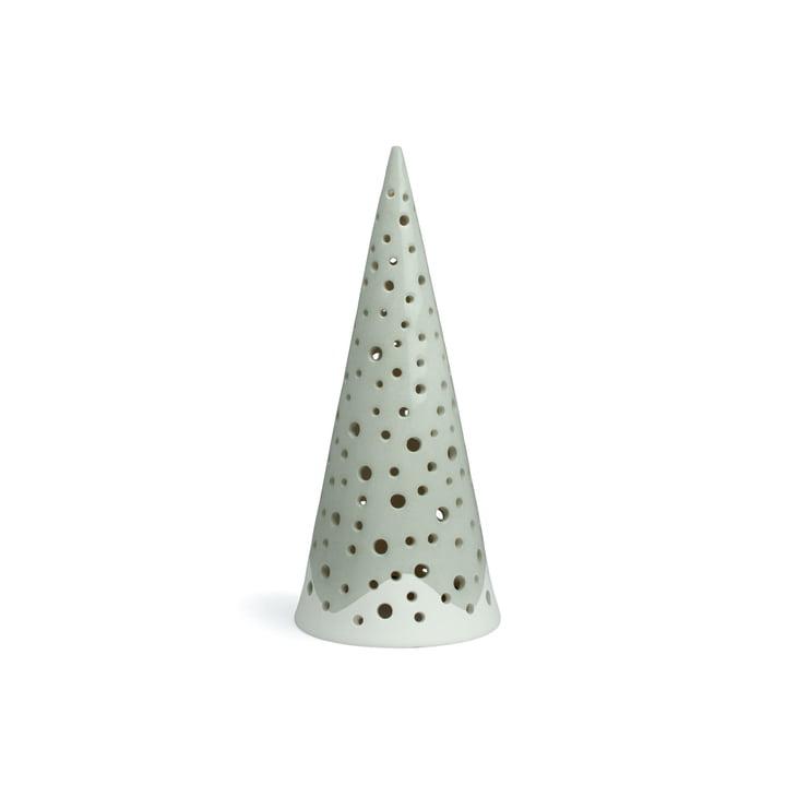 Nobili Teelichtleuchter Kegel 18 cm von Kähler Design in Stahlgrau