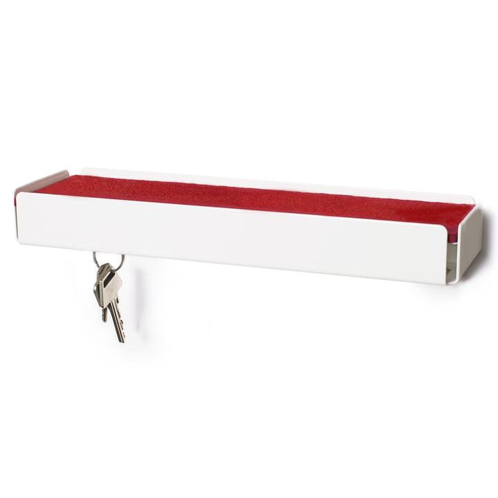 SL35 Key-Box Schlüsselbox von Konstantin Slawinski in weiss / Filz rot
