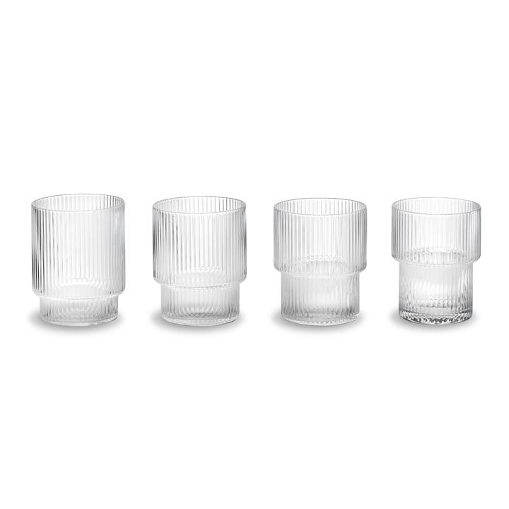 Ripple Gläser (4er-Set) von ferm Living