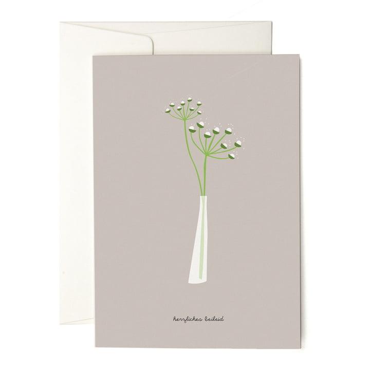 Die pleased to meet - Slim White Vase Grusskarte