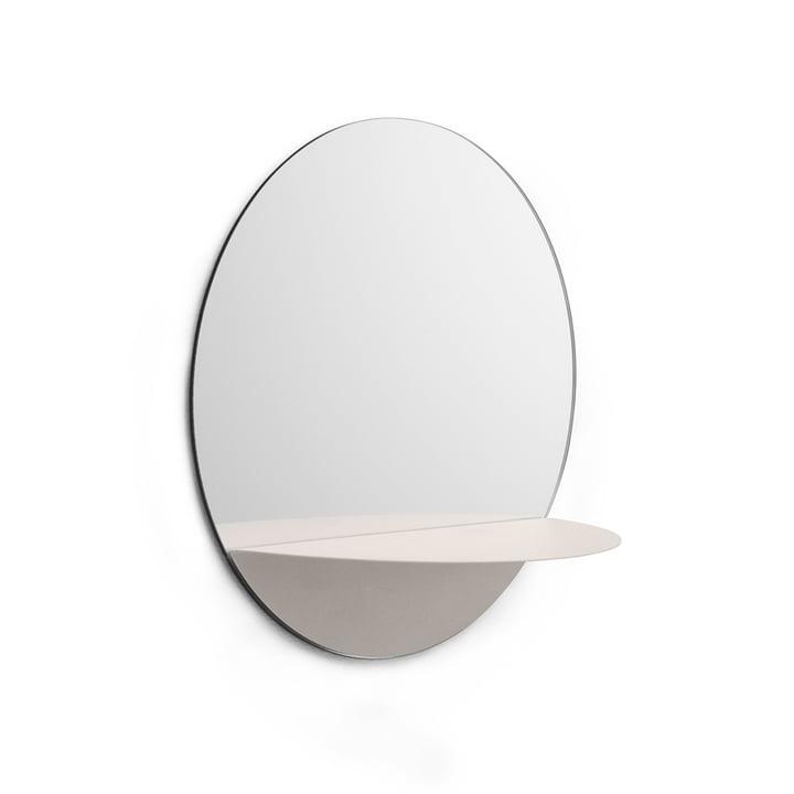Horizon Spiegel rund von Normann Copenhagen in Weiss