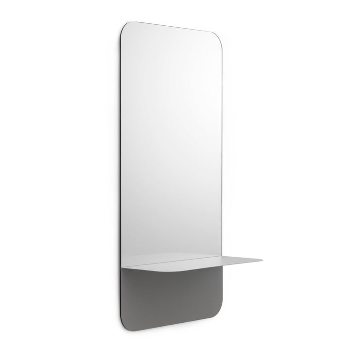 Horizon Spiegel vertikal von Normann Copenhagen in Grau