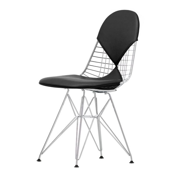 Wire Chair DKR-2 (neue Höhe) von Vitra in Premium Leder