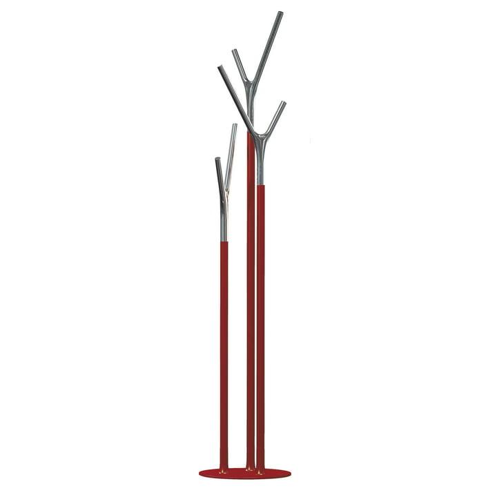 Frost - Wishbone Kleiderständer, rot / poliert
