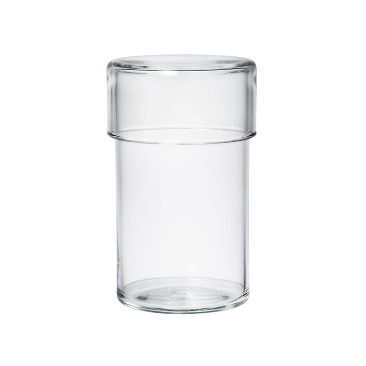 Das Raumgestalt - Glasgefäss mit Deckel in hoch