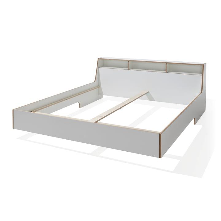 Slope Bett von Müller Möbelwerkstätten in Weiss