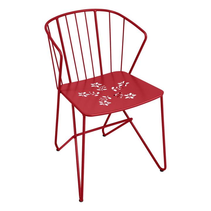 Flower Sessel mit Muster von Fermob in Chili