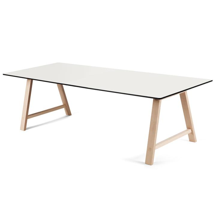 T1 Ausziehtisch 220 cm von Andersen Furniture (Gestell Eiche geseifet, Tischplatte Laminat, weiss)