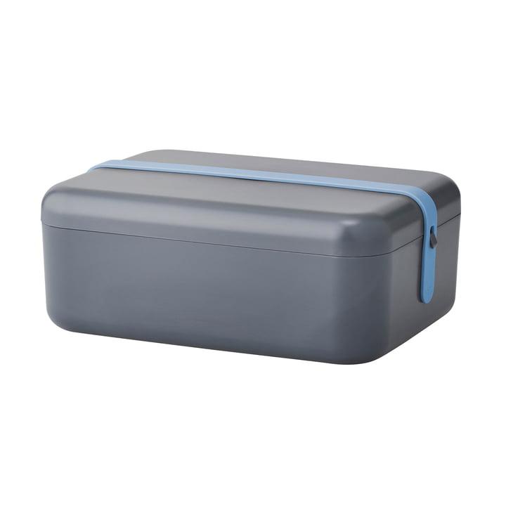 Rig-Tig by Stelton - Keep-It Cool Frühstücksdose, Silikonband blau