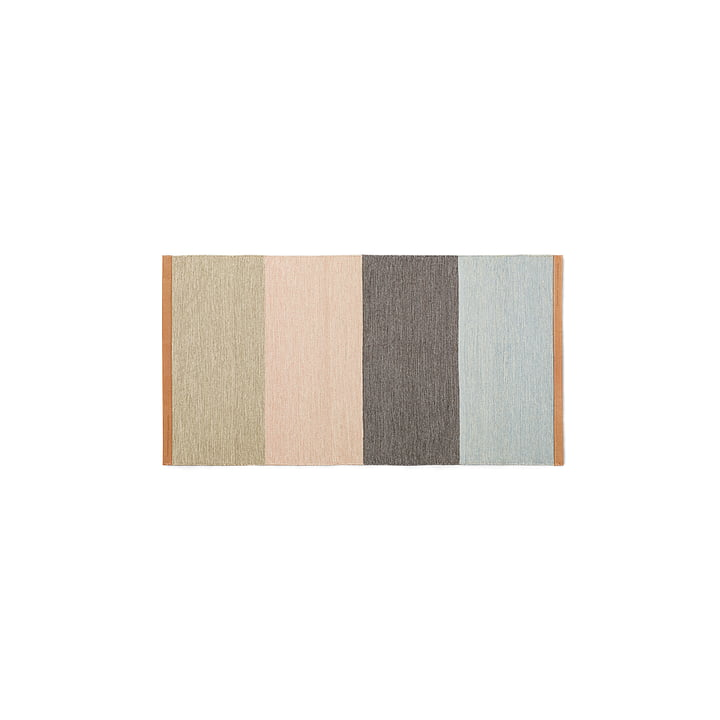 Design House Stockholm - Fields Läufer 70×130 cm, beige / rosa / braun / blau