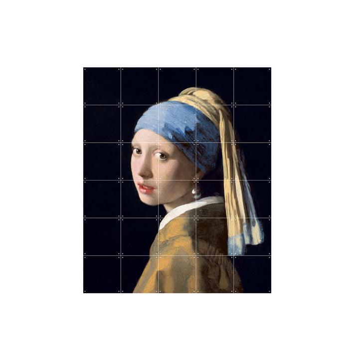 Mädchen mit dem Perlenohrring (Vermeer) von IXXI in 100 x 120 cm