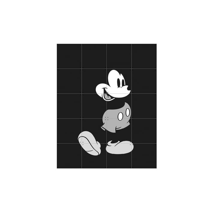 Micky Maus (Schwarz-Weiss) von IXXI in 80 x 100 cm