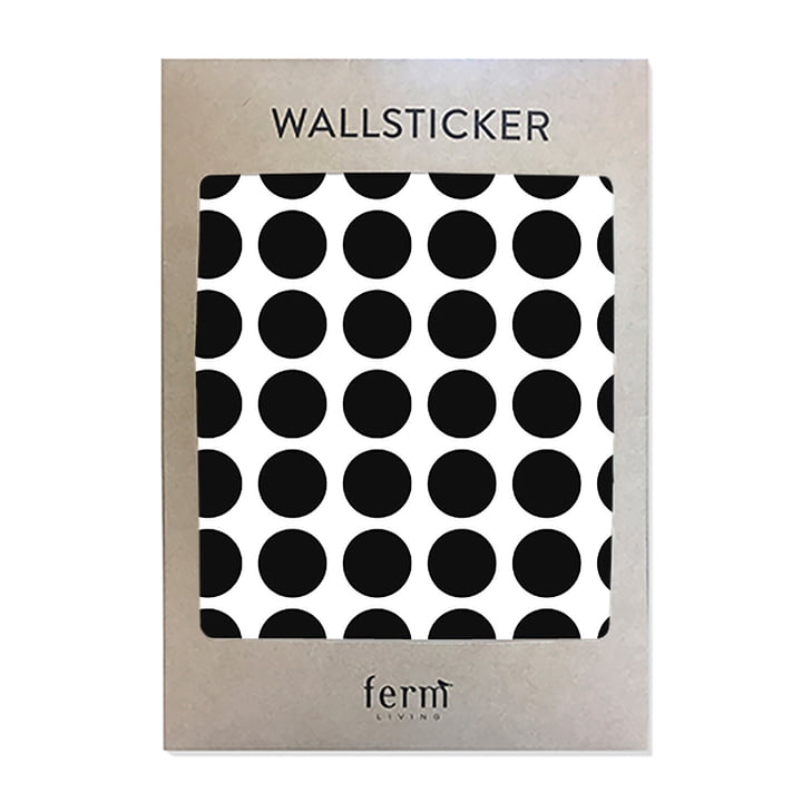 Mini Dots Wallstickers von ferm Living in schwarz