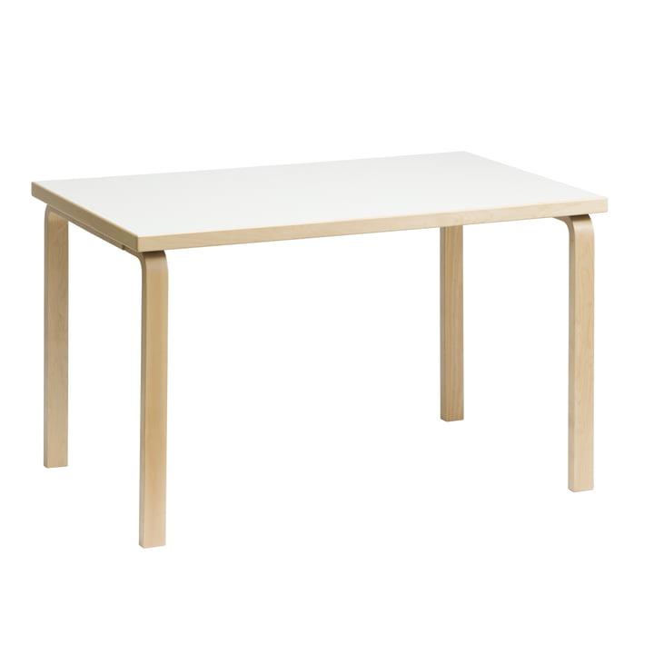 81B Tisch von Artek Birke natur / Laminat weiss