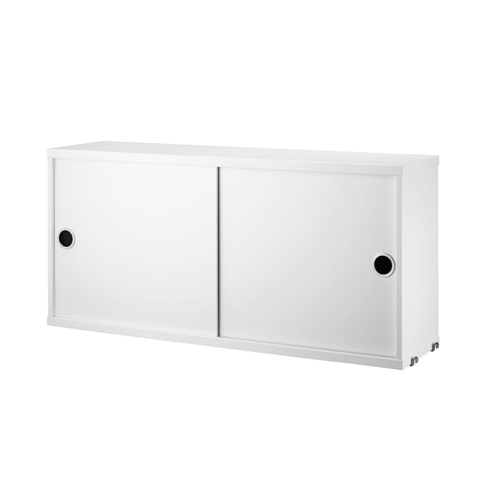 Schrankmodul mit Schiebetüren 78 x 20 cm von String in Weiss