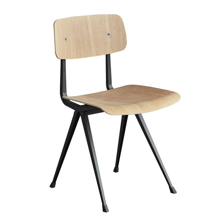 Result Chair von Hay in Schwarz und Eiche matt lackiert