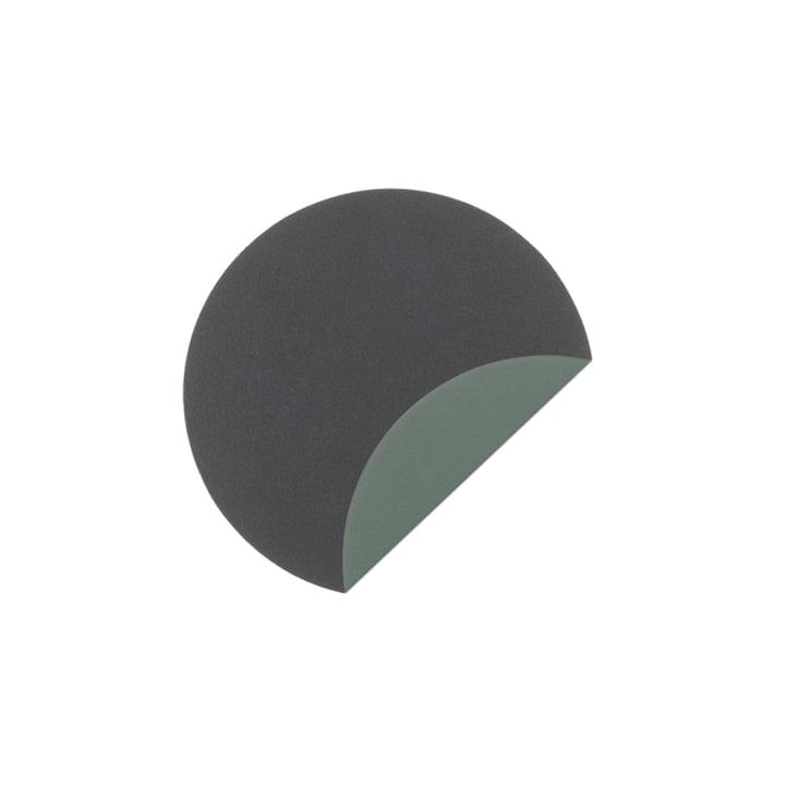 Glass Mat Circle Double Untersetzer Ø 10 cm von LindDNA in Cloud Anthrazit / Nupo Pastellgrün (2 mm)