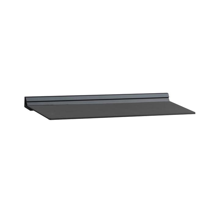 Slim Shelf M 12 x 35 cm von LindDNA in Nupo Schwarz / Stahl Schwarz