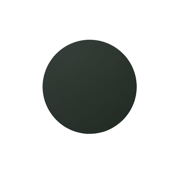 LindDNA - Glass Mat Circle Untersetzer Ø 10 cm, Softbuck dunkelgrün 1,6 mm