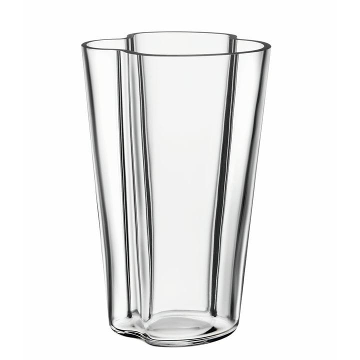 Aalto Vase Finlandia 220 mm von Iittala in klar