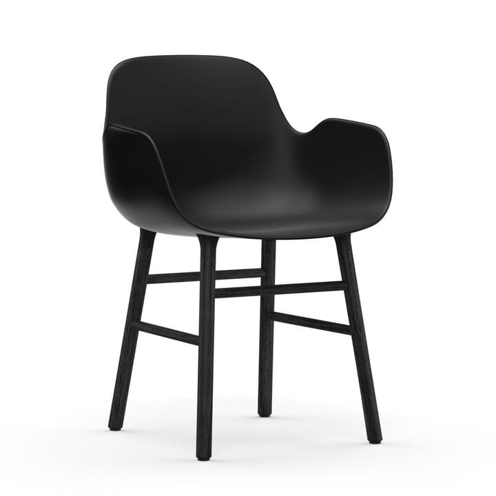 Form Armlehnstuhl von Normann Copenhagen in Eiche Schwarz / Schwarz