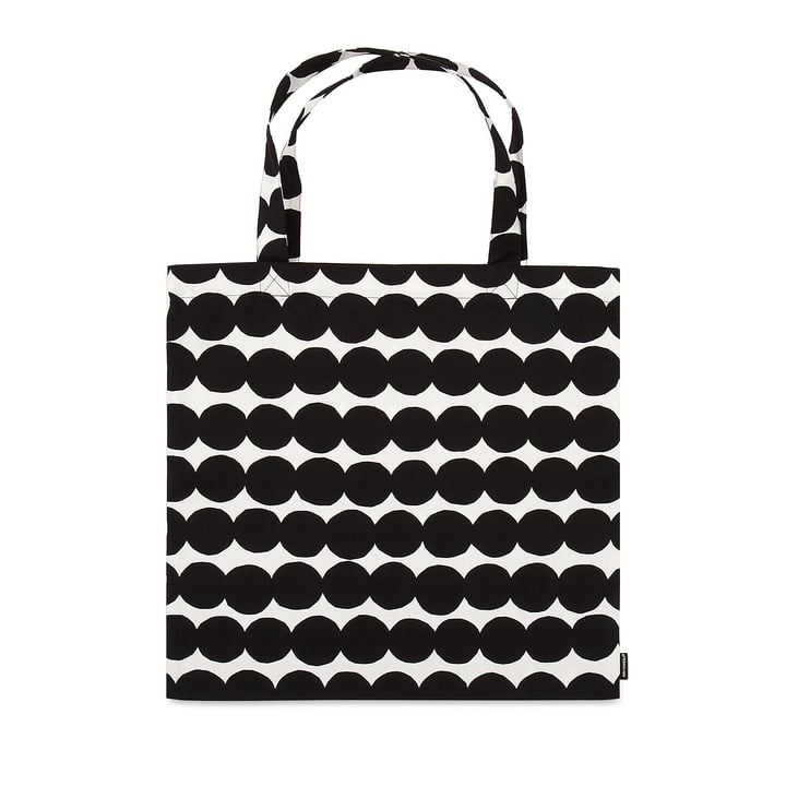 Räsymatto Einkaufstasche von Marimekko in Schwarz / Weiß