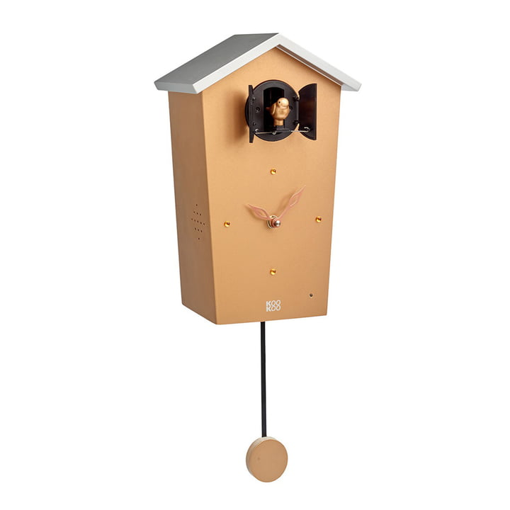Bird House Kuckucksuhr von KooKoo in Gold (Limited Edition)