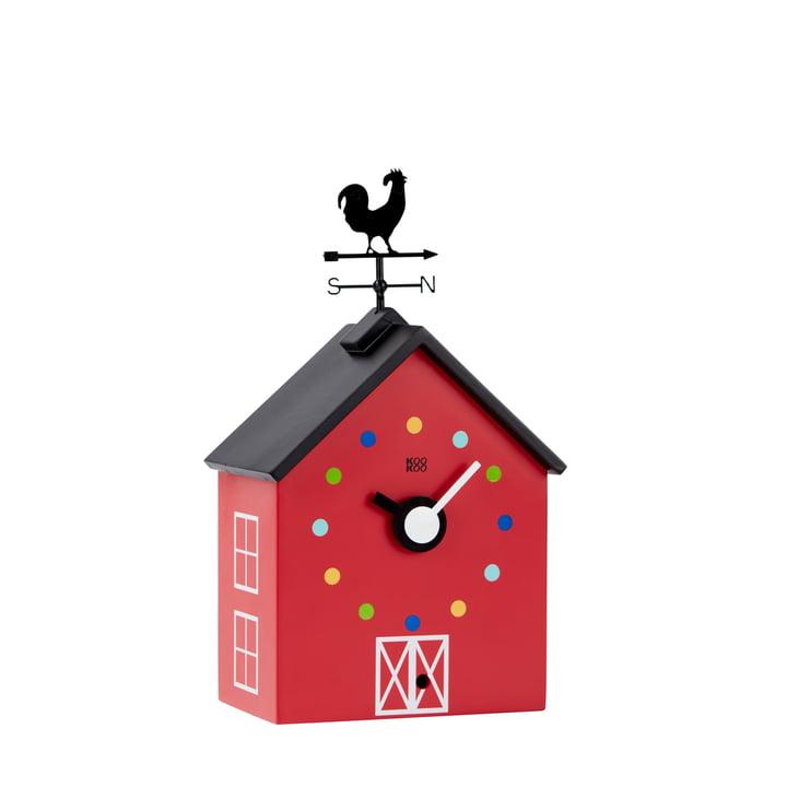 Die KooKoo - RedBarn Wanduhr Bauernhoftiere in klein