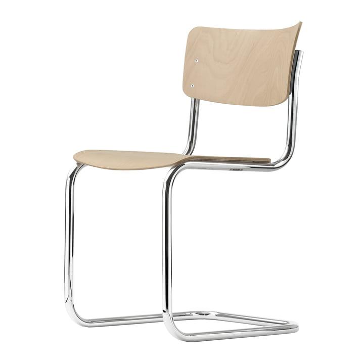 S 43 Stuhl von Thonet in Chrom / Buche natur (TP 17)