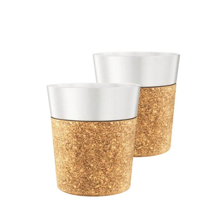 Bistro Espressotasse 0.17 l, Porzellan / Kork (2er-Set) von Bodum