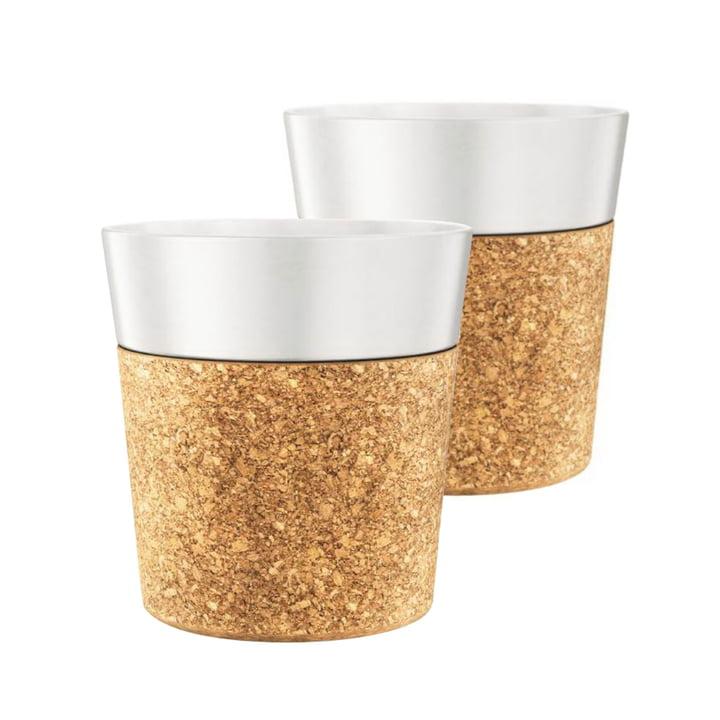 Bistro Tasse 0.3 l, Porzellan / Kork (2er-Set) von Bodum