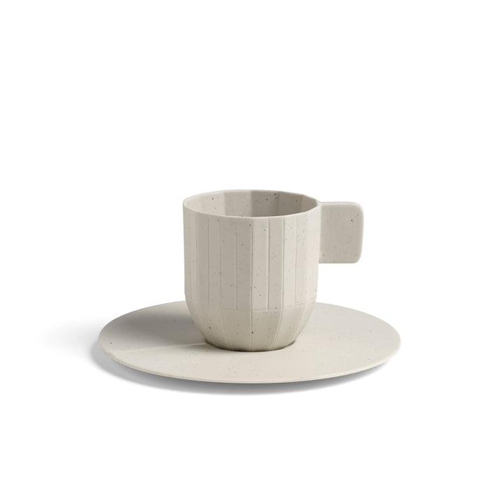 Paper Porcelain Espressotasse mit Untertasse von Hay in Hellgrau