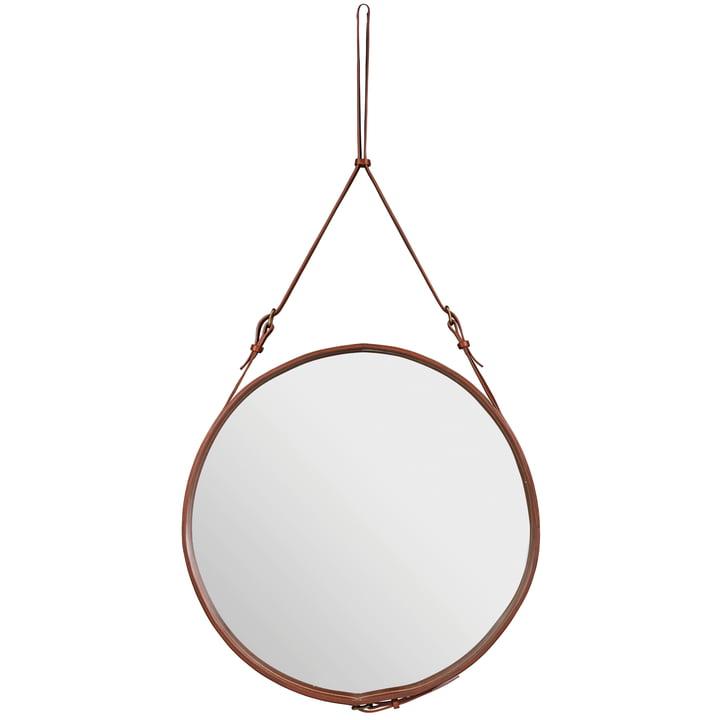 Adnet Spiegel Ø 70 cm von Gubi in Braun